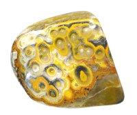 【インドネシア ジャワ島産鉱物】 バンブルビー・ジャスパー02(鶏冠石入り方解石)