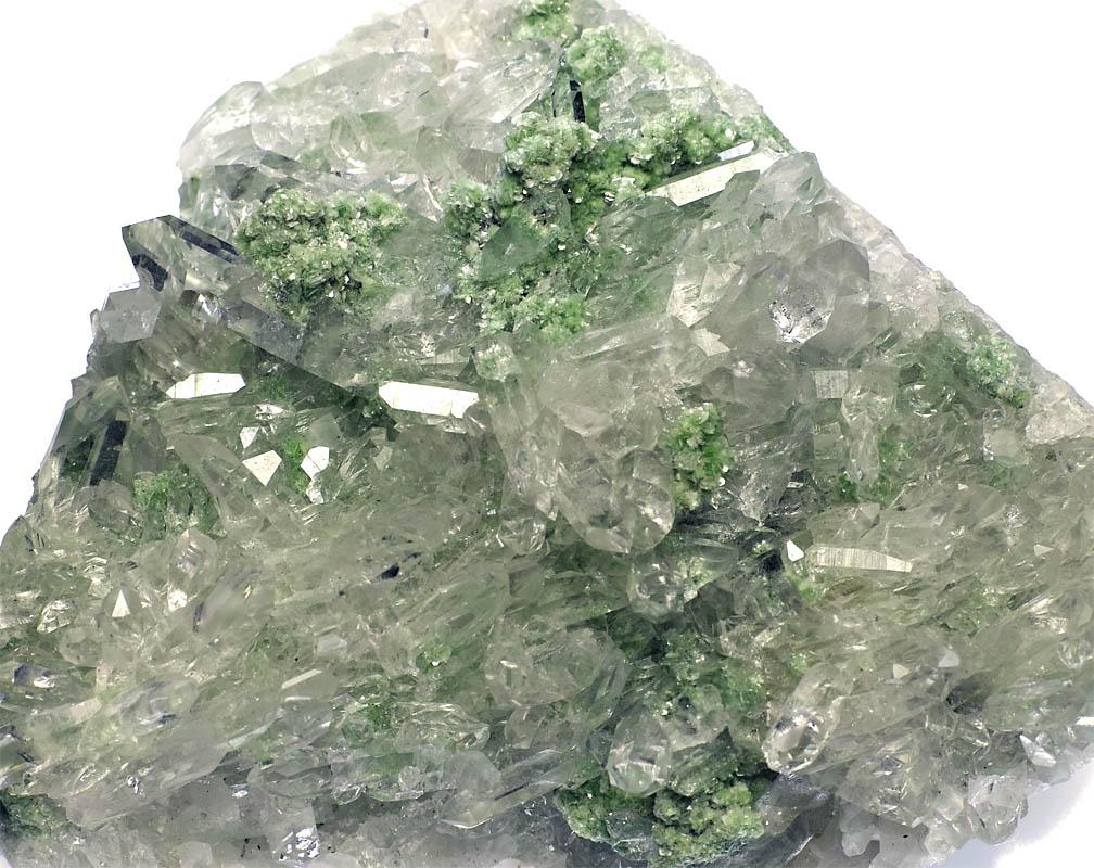 鉱物のペルー州産水晶/クロム雲...