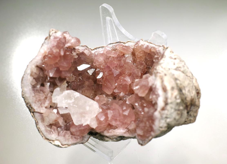 画像4: 【アルゼンチン産鉱物】 ピンクアメジスト・ジオード01(水晶/晶洞)
