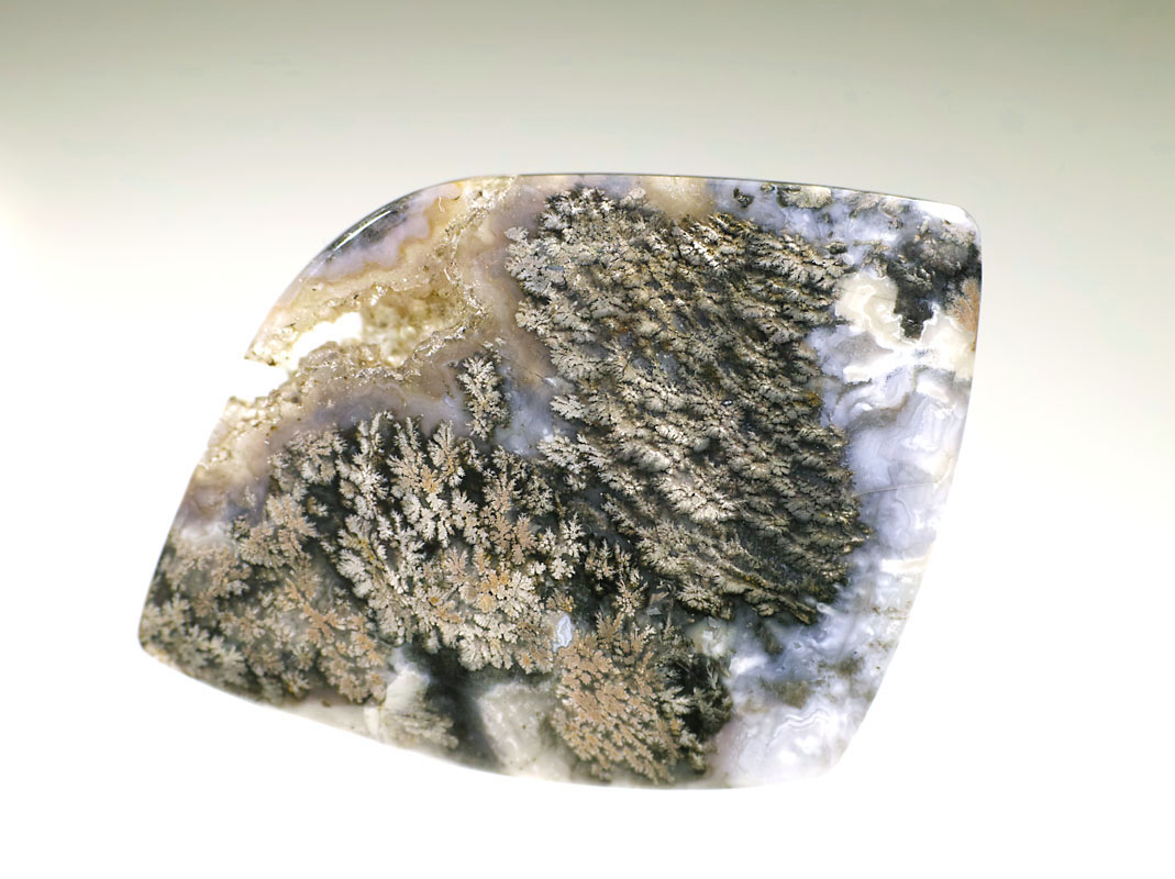 画像1: 【インドネシア ジャワ島産鉱物】 プルームアゲート・ルース09(瑪瑙/メノウ)